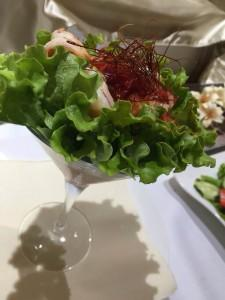 Hotel Life Palace restaurant glass of salad